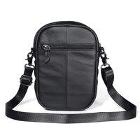 Genuine Leather Phone Bag case for iphone for huawei Men Small Shoulder Handbags Male Brand Designer Messenger Crossbody Bags