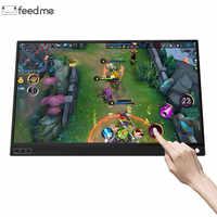 15,6 zoll Touch Screen Batterie Monitor Tragbare Ultradünne 1080 P IPS HD USB Typ C Dispaly für laptop handy XBOX schalter und PS4