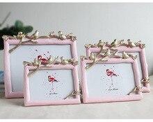 5/6/7/8 Inch Wood Frame Creative Resin Photo Frame Three Bird Photo Frame Picture Desktop Photo Frame Gift Home Decoration ZM150