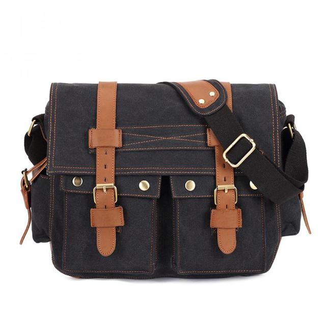 Men Canvas Single Shoulder Bag Boys Casual Messenger Bags School Boy Shoulderbag Crossbody Shcoolbag