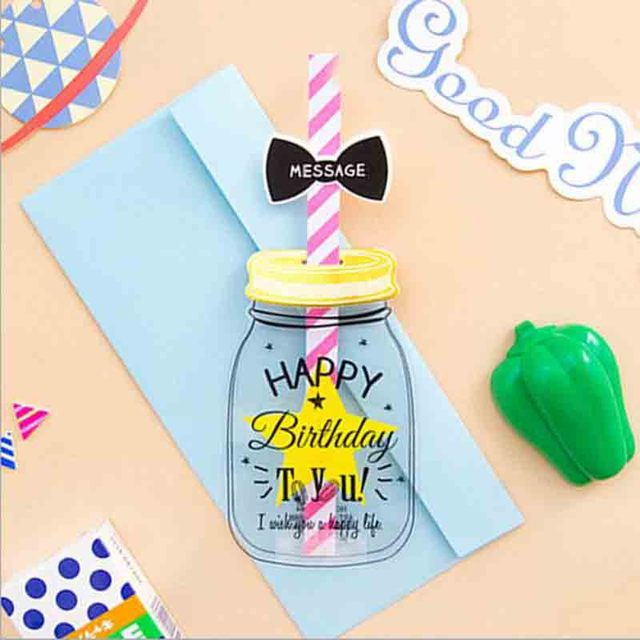 3d creative straw greeting card with envelope message card for 3d creative straw greeting card with envelope message card for birthday childrens day gift baby bottle m4hsunfo