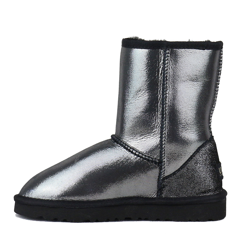 precio limitado diseño de variedad diseño de variedad US $56.0 44% OFF|Free Shipping 100% Natural Fur Snow Boots Classic Mujer  Botas Waterproof Genuine Sheepskin Leather Winter Boots Shoes for Women-in  ...