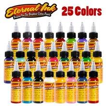 25 шт. тату набор чернил microblading Перманентный макияж Art пигмент 30 мл татуировки краска для карандаш для бровей губ тела всего 25 цветов