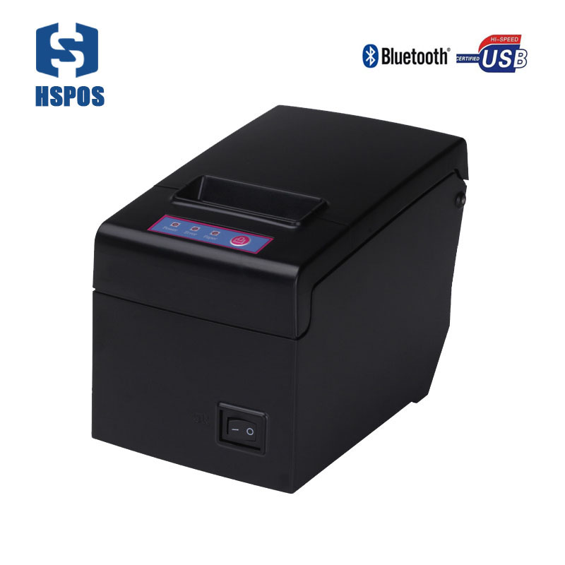 Quality 58mm bluetooth usb thermal receipt printer E58UAI support android and ios 130mm/s printing speed 80mm paper diameter 58mm portable printer bluetooth thermal printer support 50mm diameter paper roll for ios pos ticket printing machine hs 590ai