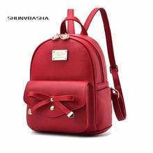 Милые девушки мода мини кожаный рюкзак для девочек-подростков Школьные ранцы женщина небольшой рюкзак дорожная Back Pack Mujer SAC DOS