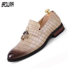Pointed Toe Formal Shoes Man Pu Leather Oxfords 2018 Spring Italy Dress Business Wedding Male Large Sizes Yasilaiya