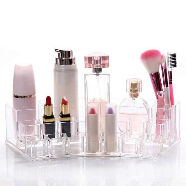 Transparent Plastic Lipstick Display Stand Holder Cosmetics Storage Box Cosmetics Sample Rack  JIU55