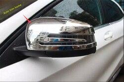 Akcesoria Lapetus do Mercedes Benz GLA X156 200 220 2014 - 2019 drzwi chromowane lusterko wsteczne wykończenie na lusterka/zestaw ochronny