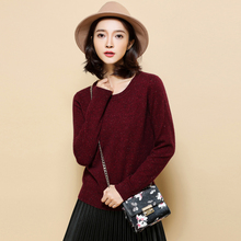 JUANBO Spring Winter O Neck Cashmere Sweater Pure Cashmere Pullover Women Slim Solid Color Knit Shirt