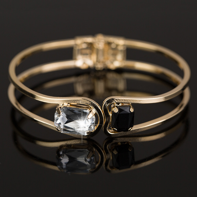 Women Bracelet gold  plated Elegant Jewelry Fashion Bud Crystal Bracelets Bangles Christmas Gifts For Women B004
