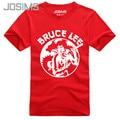 Nueva Bruce Lee Estilo Corto Manga de La Camiseta de Los Hombres de Moda de Verano inconformista Fitness Nunchakus Bruce Lee Impreso Camiseta Para Hombre A1548