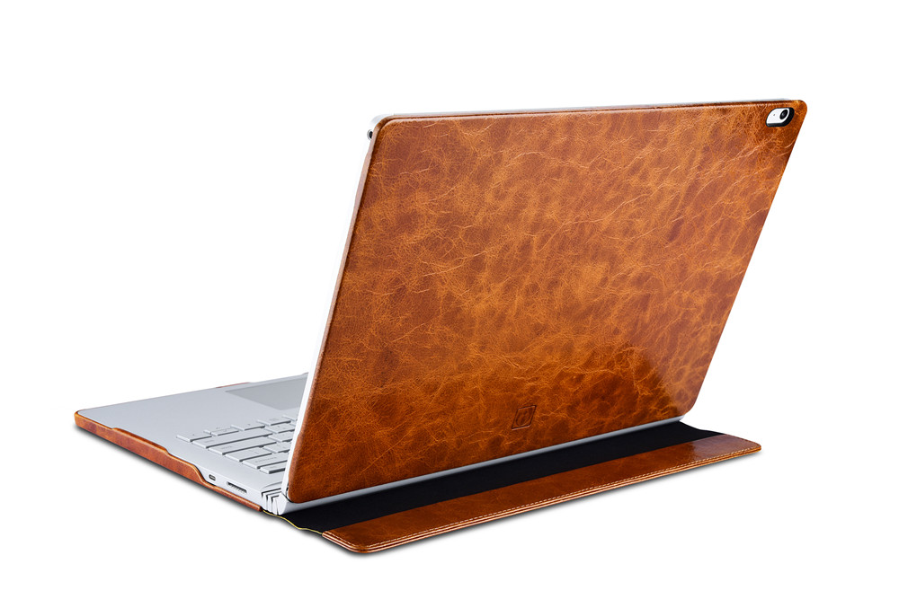 (1PC) icarer Oil Wax Vintage Cowhide Genuine Leather Case for Microsoft Surface book 2 13.5 Retro Business Stand Smart Cover microsoft surface book