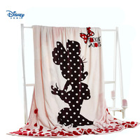 Polka Dot minnie mouse linens queen full size 200*230cm flannel blanket throw cartoon girl bed spread cover kid blanket sofa bed