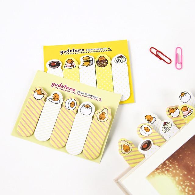 AB41 Cute Kawaii Gudetama Lazy Egg Self Adhesive Memo Pad Sticky Notes Bookmark School Office Supplies