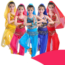 2018 New Girls Belly Dance Costumes Kids Indian Dress For Kids Ethnic Dance Tribal Dance Wear Indian Costumes Children DN1111