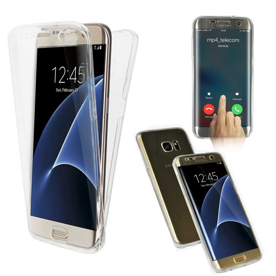 Case For Samsung A3 A5 A7 J3 J5 J7 2016 2017 A6 A8 Plus 2018 Cover 360 Transparent Full Silicone TPU Cover For A10 A30 A40 A50