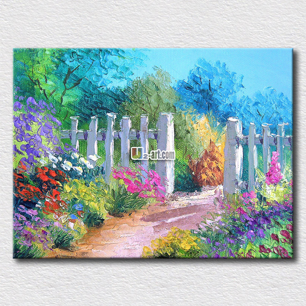 Dream Garden Watercolour Stretched Canvas Print Framed Wall Art Painting Decor