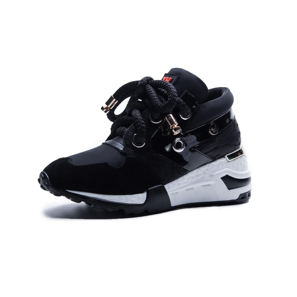 Des colors Cuir Noir Casual Femme Mode Plate Up Femmes Sneakers forme 42 En Morazora 35 2018 Chaussures Véritable Taille Lace Plat Nouveau nvN80wOm