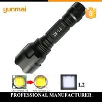 USA EU Top Tactical E17 CREE XML T6 4000LM Aluminum 5 Modes Led Flashlight Torch Lamplight