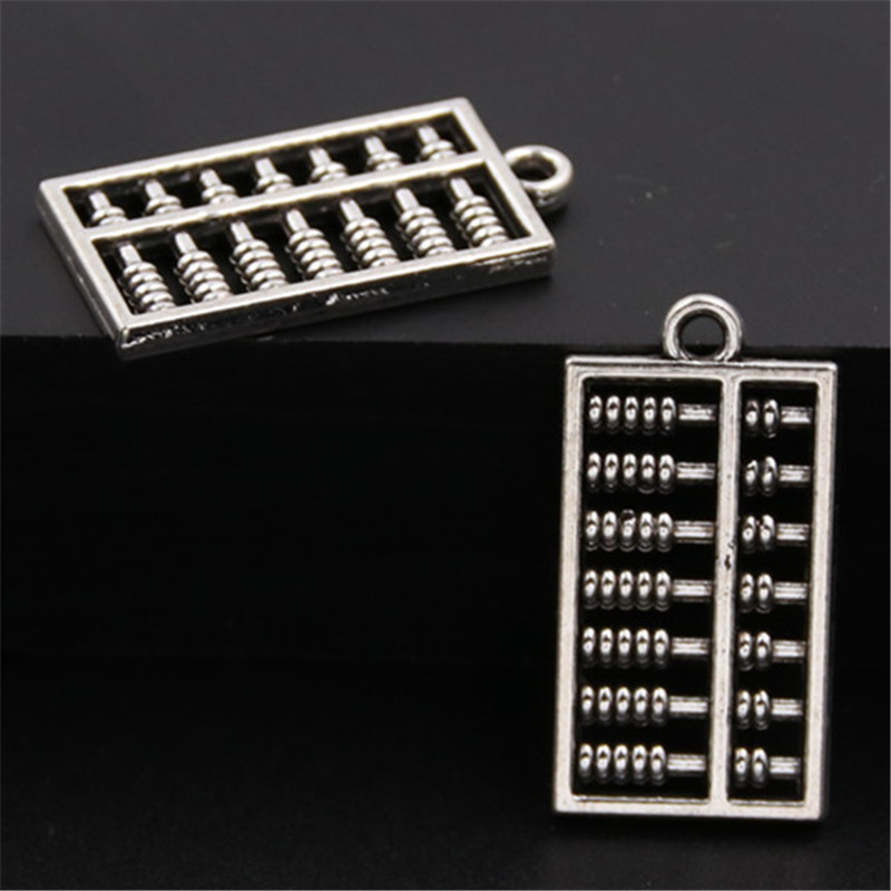 20pcs Antique Silver Double Sided Abacus Charms Pendant Jewelry Findings For DIY A872