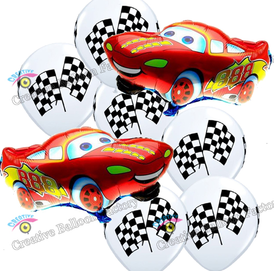 Wholesale 8pcs Lot Car Foil Latex Balloons Happy Birthday Party