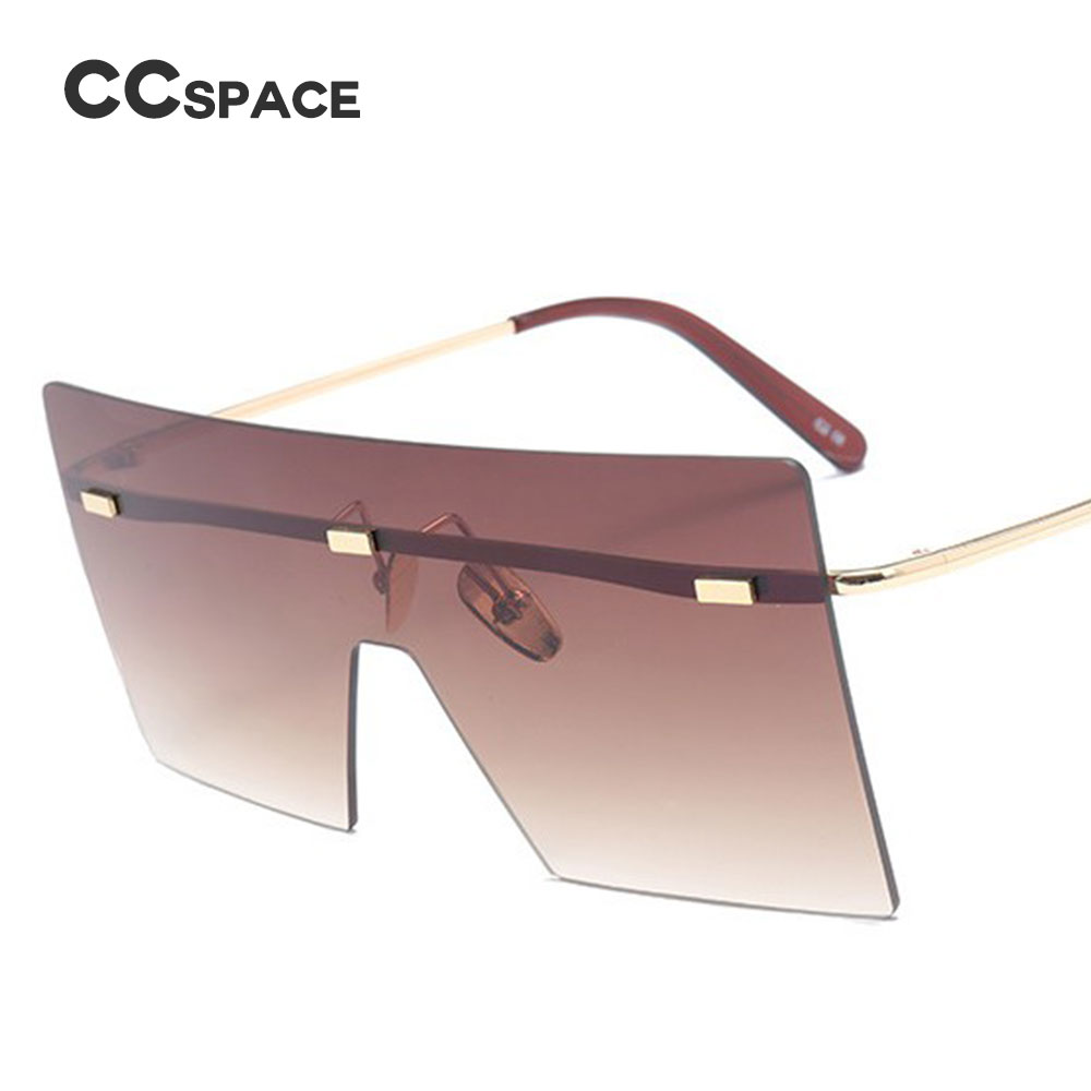 32067ef2346 CCSPACE 7 Colors 32g Oversized Square V Metal Frame Sunglasses Women Brand  Glasses Designer Fashion Male Female Shades 45326-in Sunglasses from  Apparel ...