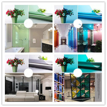 Color glass sticker Transparent window film family sun room hotel store decoration change color red green blue