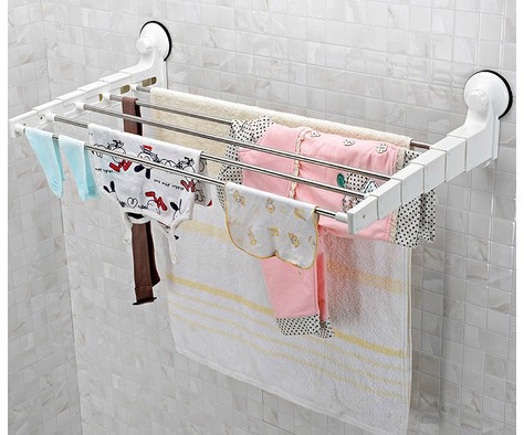 Brand Genuine Fashion Stainless Steel Telescopic Racks Towel Bathroom  Accessories Shelf For Bathroom Storage Ikea Free