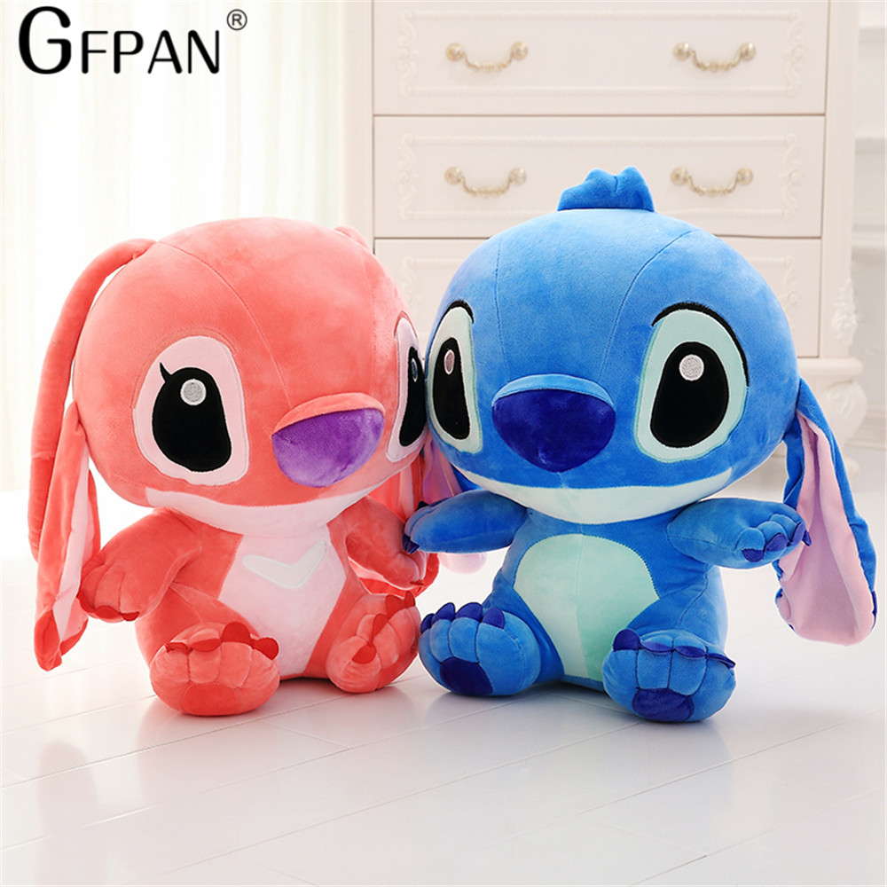 Huge Size 80cm Lovely Stitch Plush Doll Anime Lilo and Stitch Cute Stich Stuffed Cartoon Toys for Children Kids Birthday Gift - 5