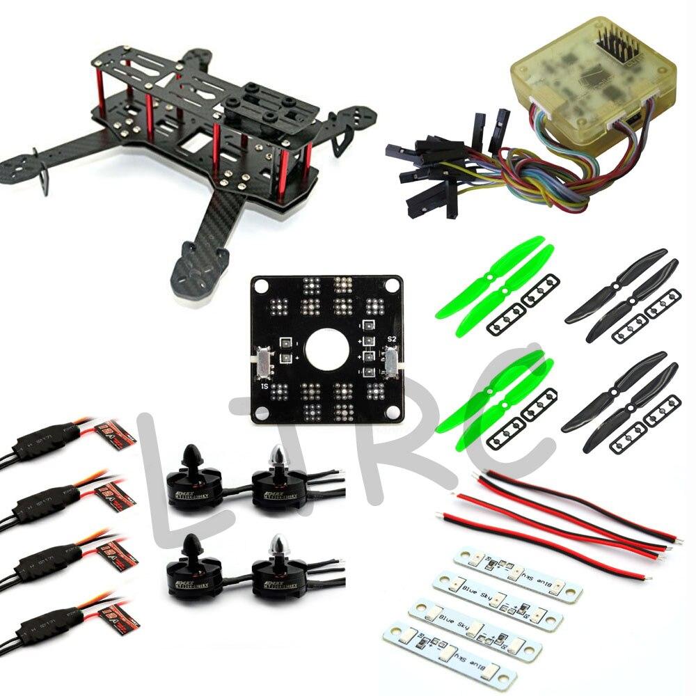 ФОТО RC plane Carbon Fiber Mini QAV250 C250 Quadcopter Emax 2204 Motor Emax simonk 12A Esc CC3D Flight Control Prop