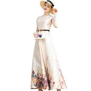 Женское жаккардовое платье-Тренч, длинное вечернее дизайнерское платье макси с зауженной талией, весна-лето 8057