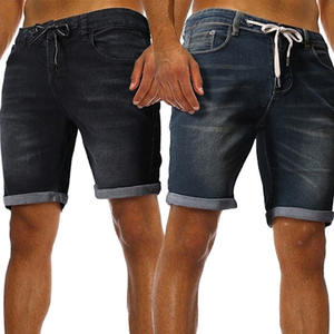 2019 New Summer Mens Denim Shorts Fashion Casual Drawstring Slim Jeans Cargo Shorts Outdoor Short Pants Clothing High Quality