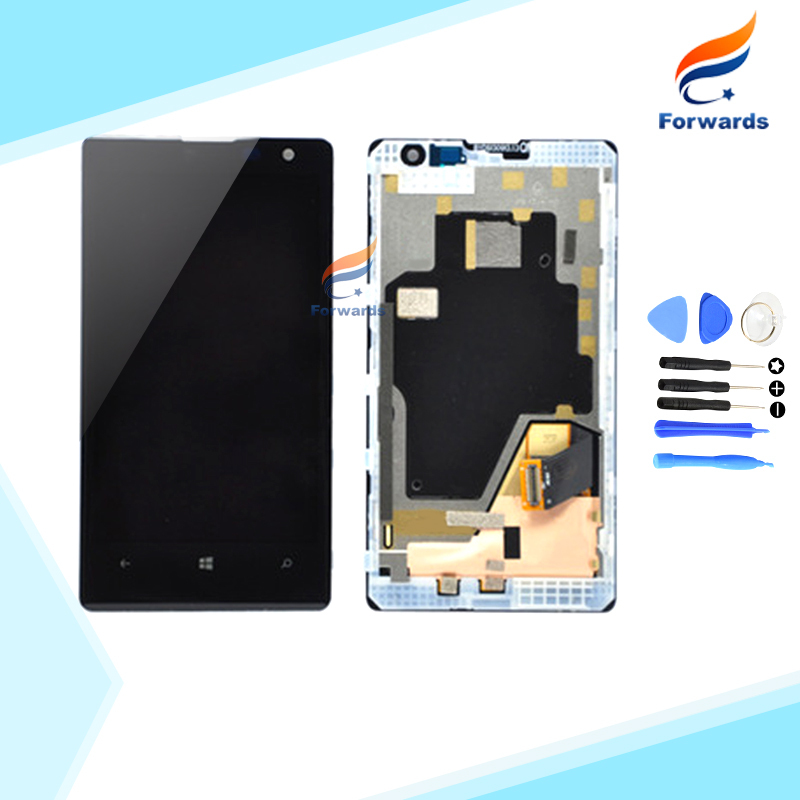 ФОТО 10pcs/lot DHL EMS free shipping New Tested for Nokia Lumia 1020 LCD Screen Display with Touch Digitizer Frame + Tools Assembly