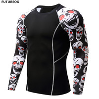 2017 Punisher Compression Shirt Men Breathable Quick Dry T Shirt Bodybuilding Top Crossfit Tee Fitness Weight