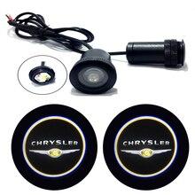 2 шт. для CHRYSLER эмблема автомобиля логотип светодиодный светильник на дверь Универсальный Призрак Тень Добро пожаловать лазер любезно слайд проектор логотип светильник