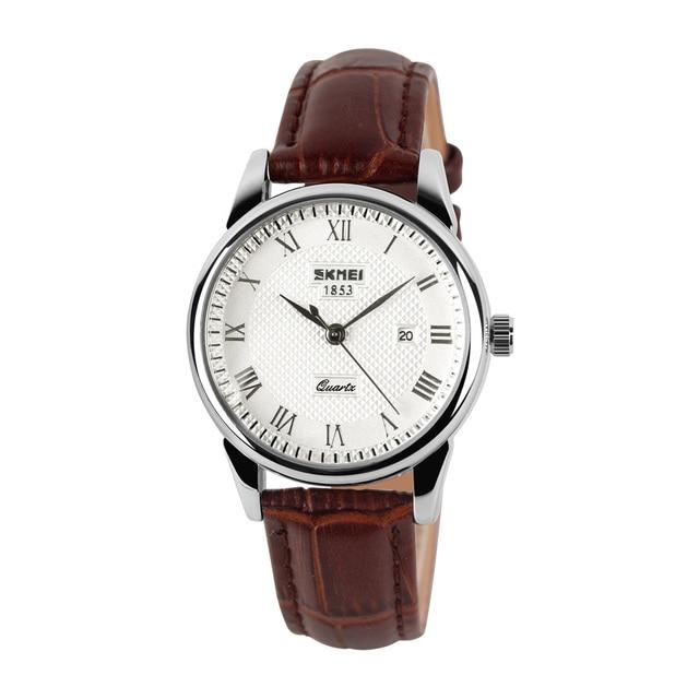 SKMEI Quartz Watch Women Couples Men Top Brand Luxury Time Date Clock Fashion Cl