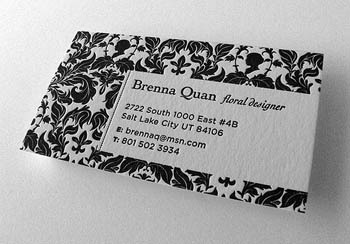 Exquisite Classical Business Card Letterpress Printing Boutique