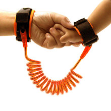 Hot Sell 1.5M Kids Baby Toddler Anti-lost Wrist Link Band Children Braclete Wristband Elastic Harnesses Safety Leashes Strap FL