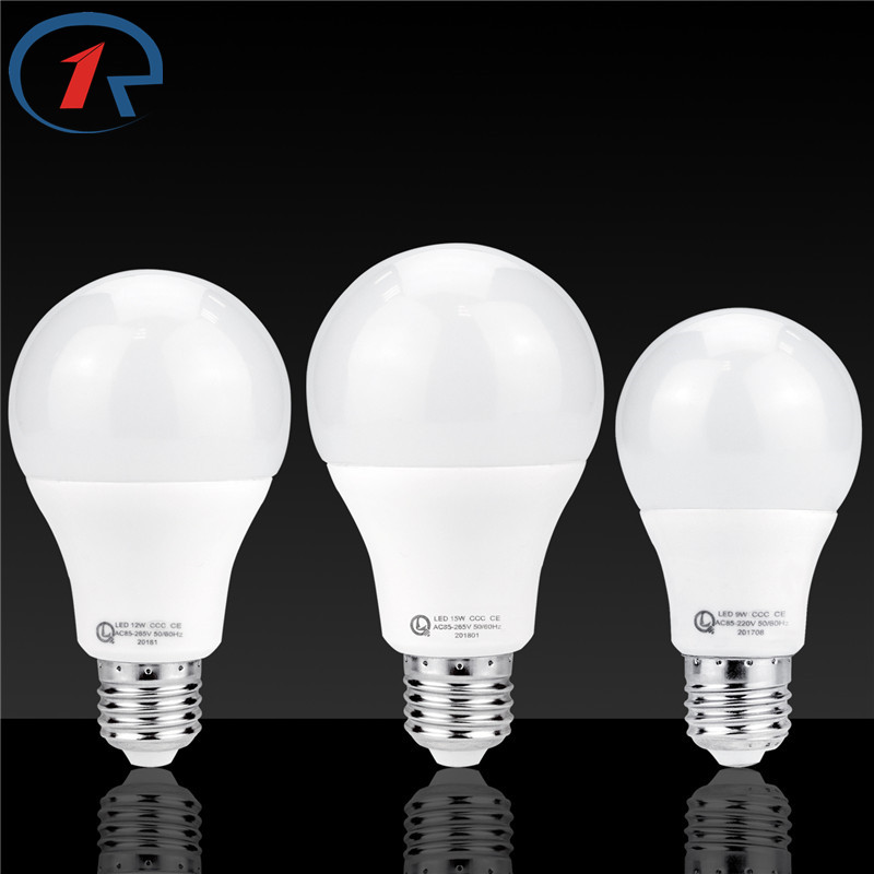 ZjRight LED Bulb Lamp E27 85V-240V Light Bulb Smart IC Real Power 5W 7W 9W 12W 15W High Brightness Lampada LED lighting Bombilla