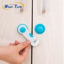 Купить с кэшбэком 4 Ps/Lot Plastic Cabinet Lock Child Safety Baby Protection From Children Safe Locks Refrigerators Baby Security Drawer Latches
