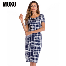 MUXU sexy pencil dress vestidos mujer womens clothing elegant fashionable clothes backless floral bodycon patchwork 2018