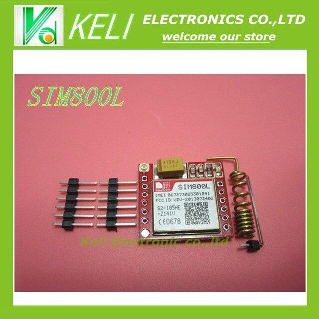 1 PCS/LOT Plus Petit SIM800L GPRS GSM Module MicroSIM Carte Core Conseil Quad-bande TTL Port Série