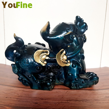 Collection Chinese brass carving mythical animal Pixiu office opened a new shop opening craft business gifts