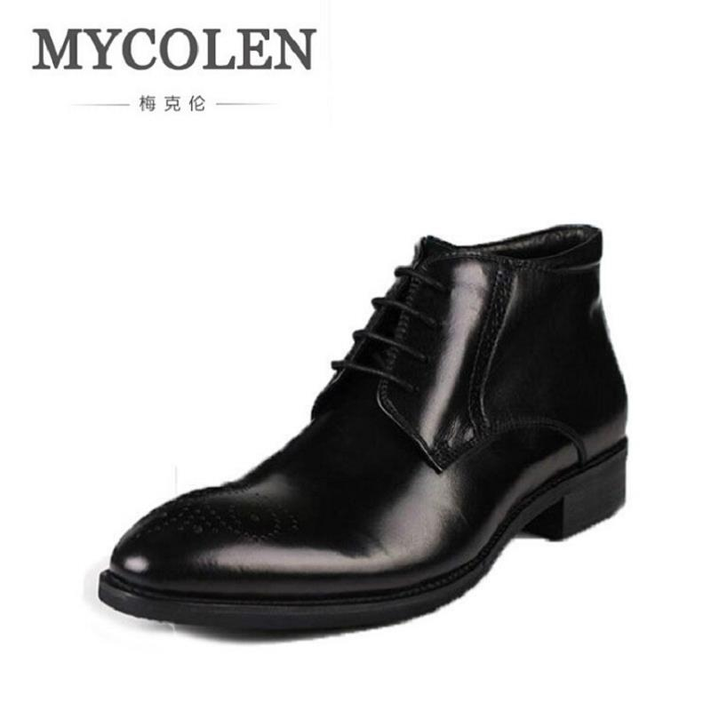 MYCOLEN Men Shoes Spring Autumn British Fashion Ankle Boots Men Comfortable Brogue Shoes Men Casual Brown Martin Boots Schoenen 2017 new spring british retro men shoes breathable sneaker fashion boots men casual shoes handmade fashion comfortable breathabl