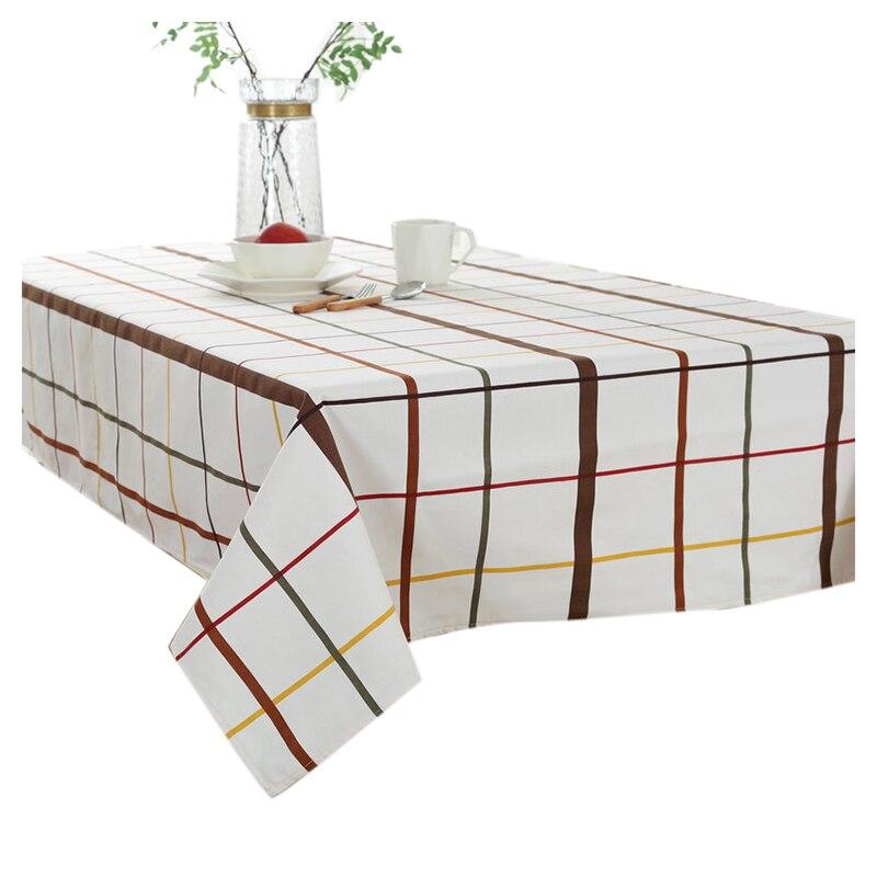 Европейский Классическая холст ткань стол скатерть, скатерть кофе решетки серии дома (белый клетчатый) 140*200 см