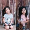 Ins * novos meninos do bebê meninas verão 100% algodão T-shirt do cão padrão crianças de manga curta top roupas 1-5Y moda bonito livre grátis