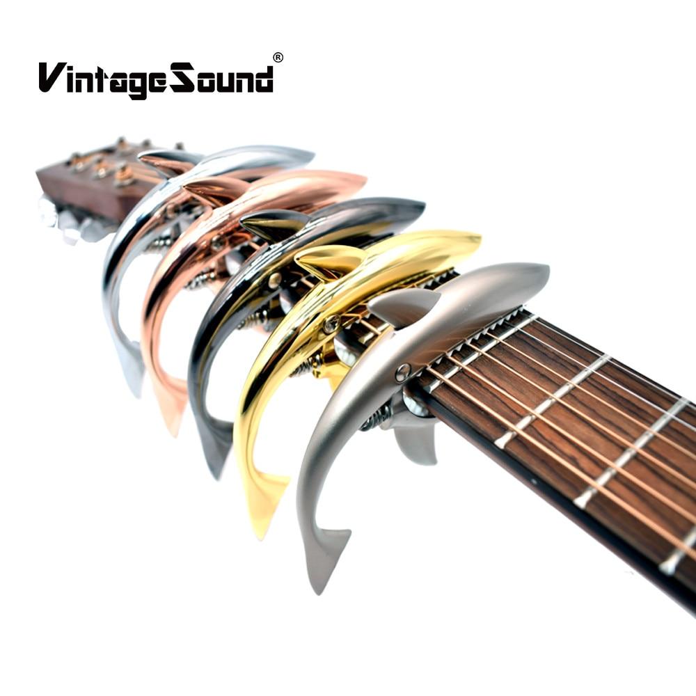 Requin Guitare Capo Zinc Alliage Universel Quick Change Clamp pour Acoustique Classique Guitare Électrique Instrument de musique Accessoires