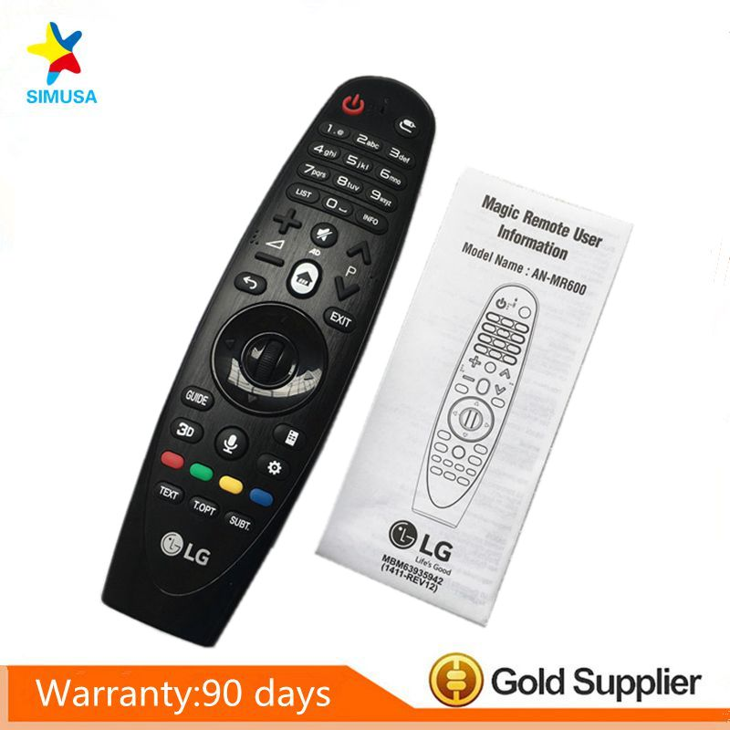 Original AN-MR600 AN-MR600G Magic Motion Remote Control with Browser Wheel for LG 3D smart TV original english version magic motion remote control an mr400g for lg 2013 smart tv la6200 la6500 series with manual