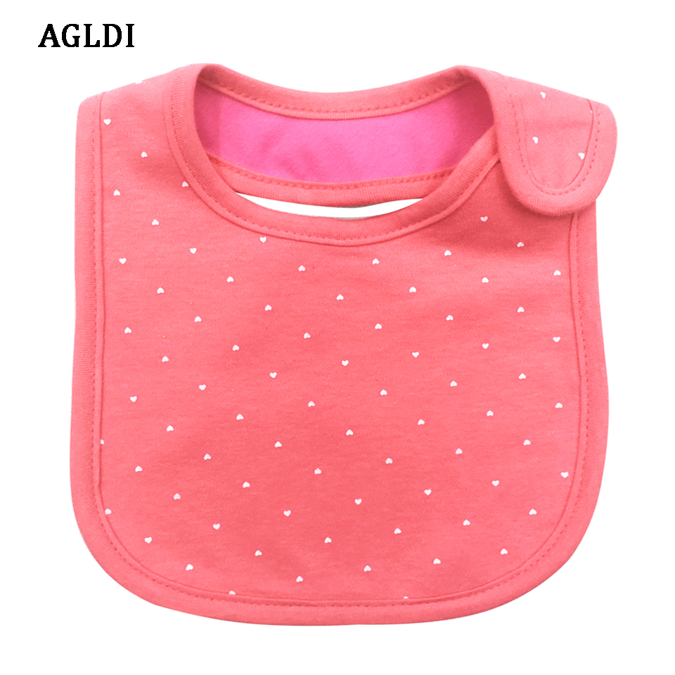 0-3 years baby Bibs bib Infant Saliva Towels Red +White dot Wear Burp Cloths Baby Girl Feeding Bibs waterproof bibs ...