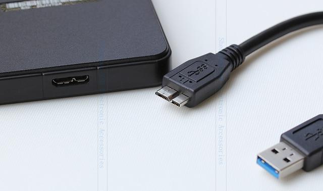 20cm Micro B USB 3.0 synchronisation de données câble court de charge pour disque dur USB3.0